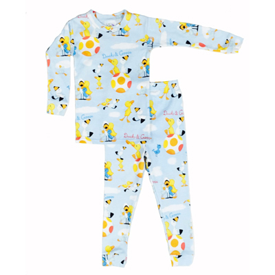 Duck and Goose pajamas in blue (pajamas only) 1