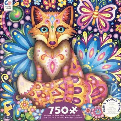 Groovy Animals 750 piece puzzle - Fox 1