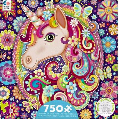 Groovy Animals 750 piece puzzle - Unicorn 1
