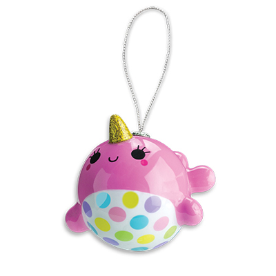 Pink Narwhal Ornament