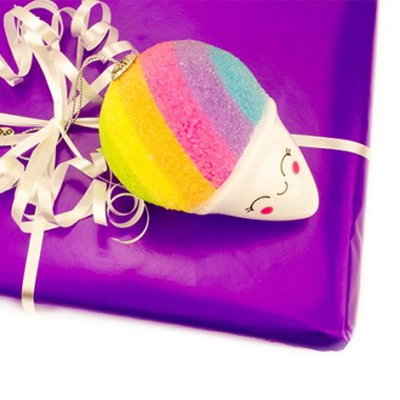 Rainbow Snow Cone Ornament 2