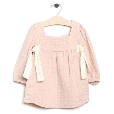 Soft Rose organic cotton muslin side ties dress - 5 1