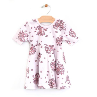 Lilac Hydrangea twirl dress - 3 1
