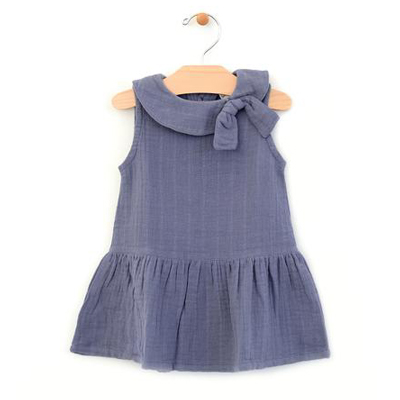 Periwinkle Retro collar muslin dress - 9- 12 months 1