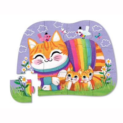 Cuddly Cat 12 piece mini puzzle 2