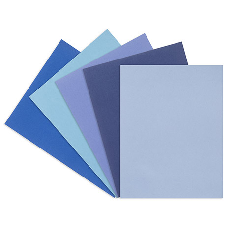 Brilliant Blues smooth card stock- 8.5 x 11 - 50 sheets 1