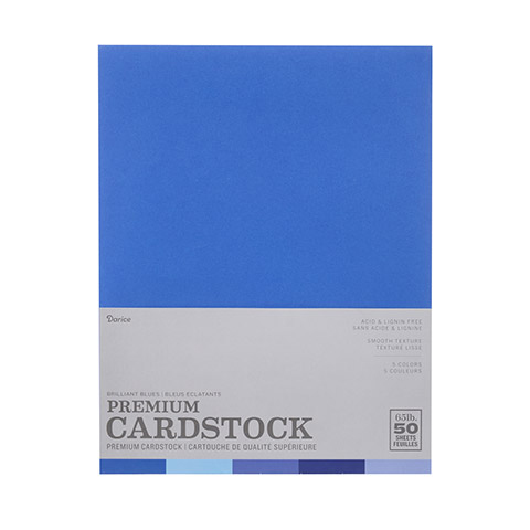 Brilliant Blues smooth card stock- 8.5 x 11 - 50 sheets 2