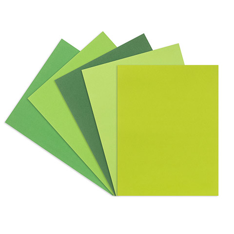 Gorgeous Greens smooth card stock - 50 sheet pack - 8.5 x 11 1