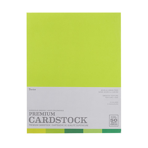 Gorgeous Greens smooth card stock - 50 sheet pack - 8.5 x 11 2