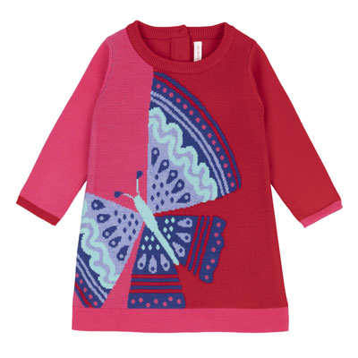 Butterfly baby sweater dress 1