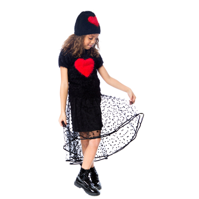 Heart knit sweater 3