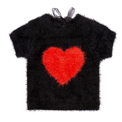 Heart knit sweater 1