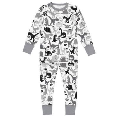 Grey organic dinosaur pajamas 1