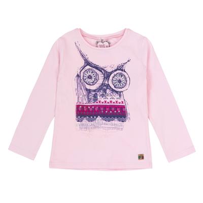 Owl print pink shirt - 5 1