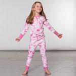 Pink organic cotton dinosaur pajamas 2