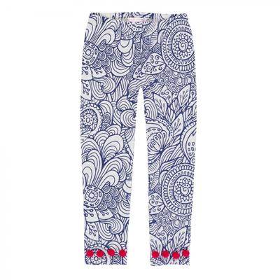 Mandala leggings with pom poms 1