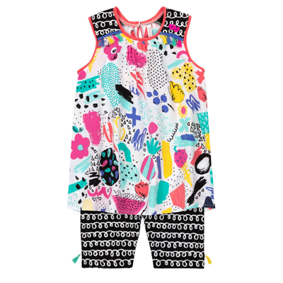 Artistic printed tunic and leggings 1
