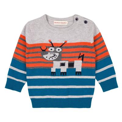 Meccano Knit Striped Sweater 1