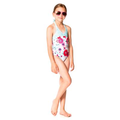 Floral halter swimsuit 2