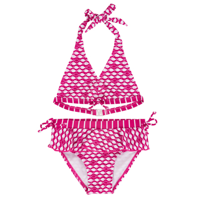 Pink Fish 2 piece swimsuit 1