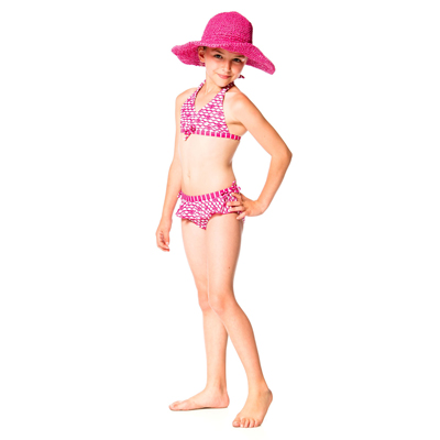 Pink Fish 2 piece swimsuit 2