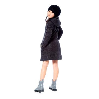 Grey Wool Coat by Deux par Deux 2