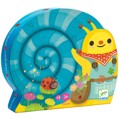 Snail goes plant picking puzzle 24 pieces 1