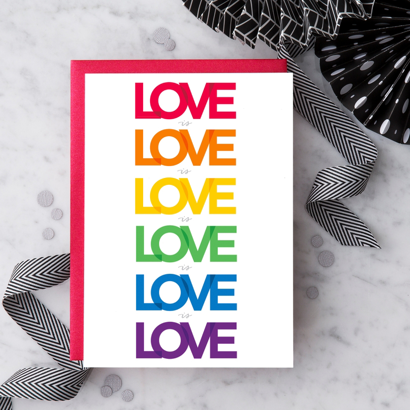 """Love is Love is Love""  Card 1"