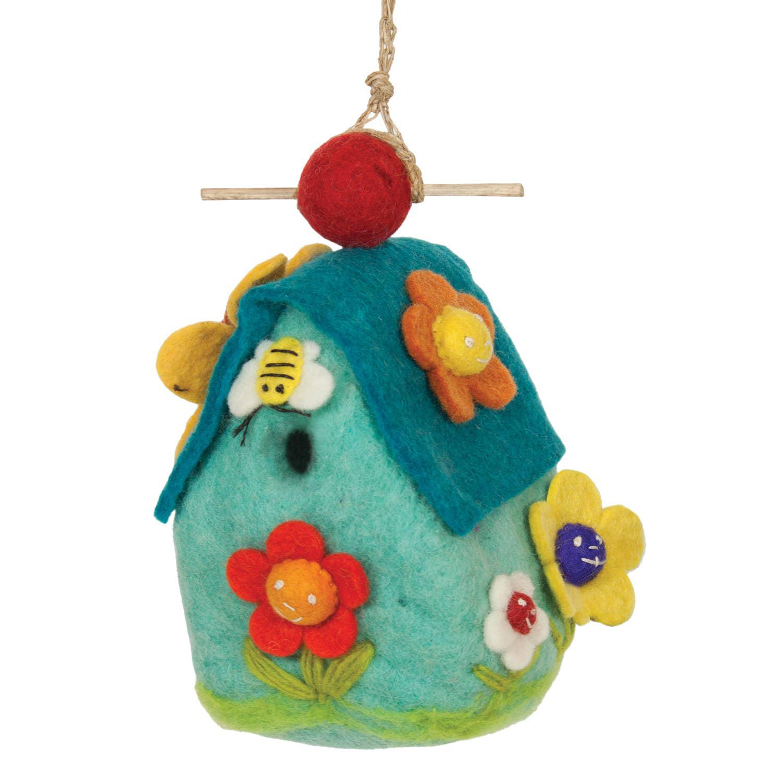 Flower House Birdhouse 1