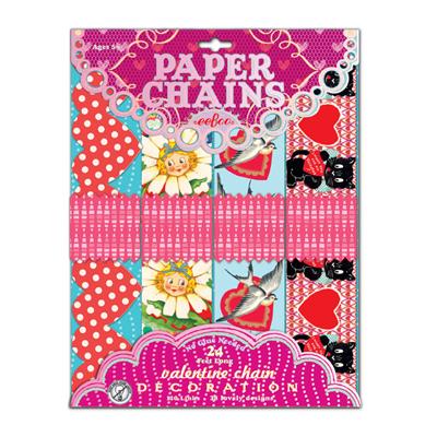 Valentine paper chains 1