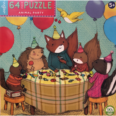 Animal Party 64 Pc Puzzle 1