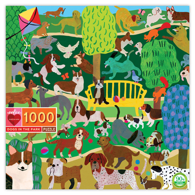 Dogs in the park 1000 piece puzzle 1