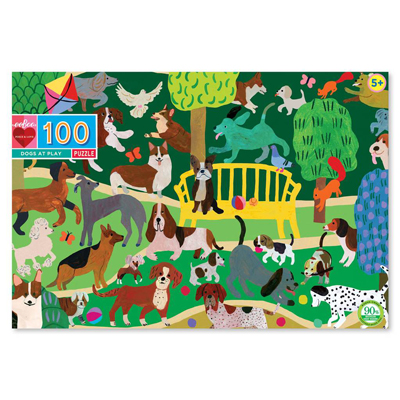 Dogs at play 100 piece puzzle 1