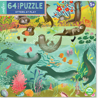 Otters at Play 64 Pc Puzzle 1