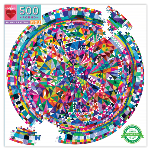 Triangle Pattern 500pc Round Puzzle 1