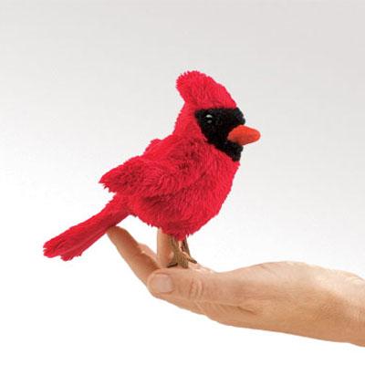 Mini Cardinal puppet by Folkmanis 1