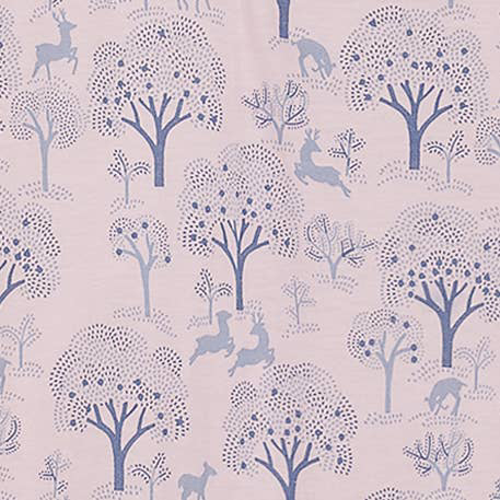 Deer and Appletrees on Pink Ruched Romper 2