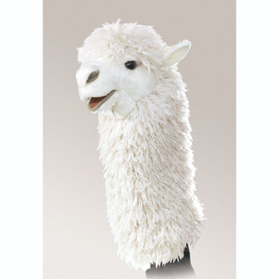Alpaca stage puppet by Folkmanis 1