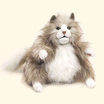 Fluffy Cat puppet by Folkmanis 1