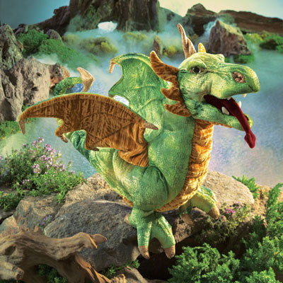 Wyvern Dragon puppet by Folkmanis