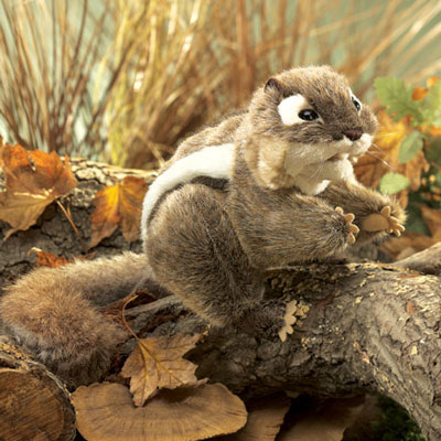 Eastern Chipmunk Puppet by Folkmanis - Retired 1