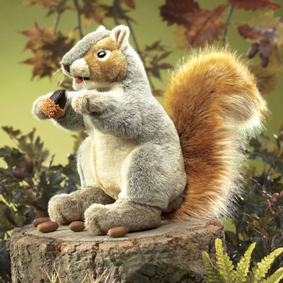 Gray Squirrel puppet by Folkmanis 1