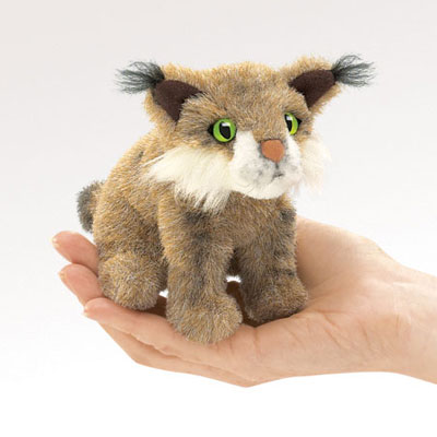 Mini bobcat puppet by Folkmanis 1