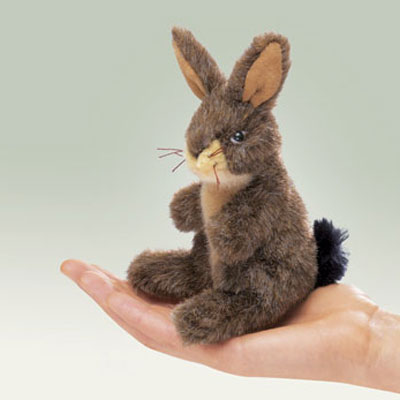 Mini Jack Rabbit puppet by Folkmanis 1