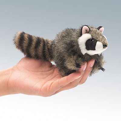 Mini Raccoon puppet by Folkmanis 1