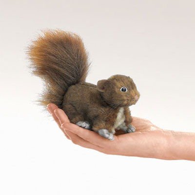 Mini Red Squirrel puppet by Folkmanis 1