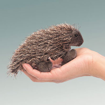 Mini Porcupine puppet by Folkmanis 1