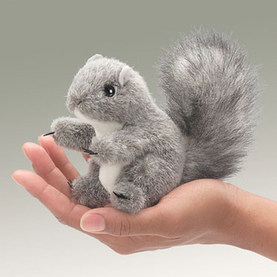 Mini Gray Squirrel puppet by Folkmanis 1