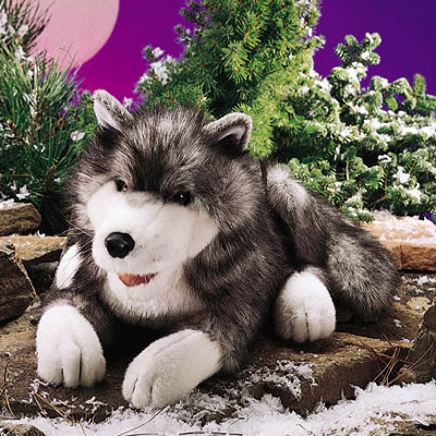 Timber Wolf puppet by Folkmanis 1
