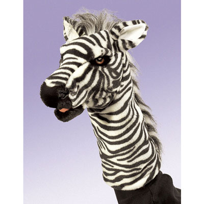 Zebra stage puppet by Folkmanis 1